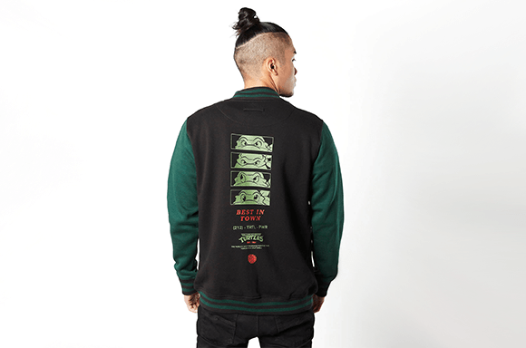 Teenage Mutant Ninja Turtles - Black / Green Varsity Jacket