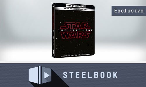 STAR WARS: THE LAST JEDI 4K UHD BLU-RAY STEELBOOK