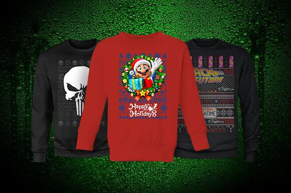 Christmas sweatshirts £14.99