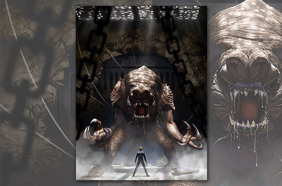 STAR WARS: RANCOR'S WRATH LITHOGRAPH
