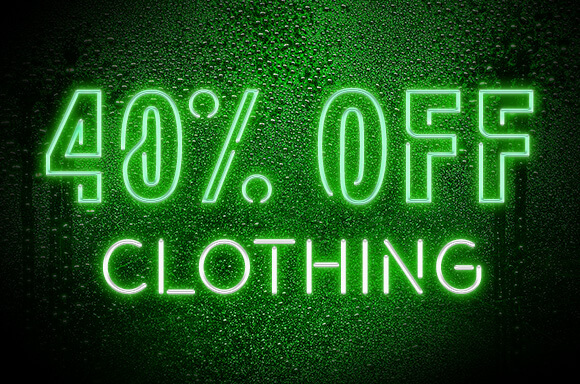 40% off Clothing