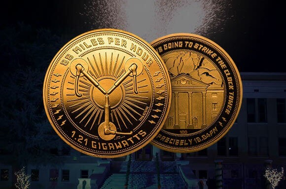 BACK TO THE FUTURE COLLECTORS COIN: GOLD VARIANT