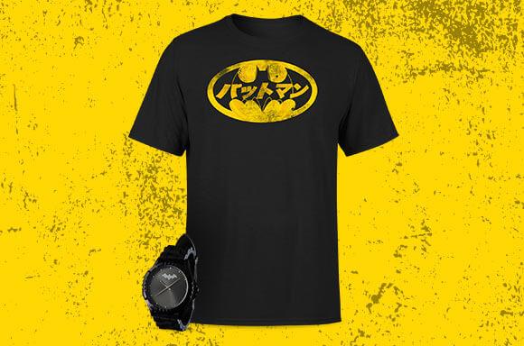 BATMAN WATCH & T-SHIRT BUNDLE