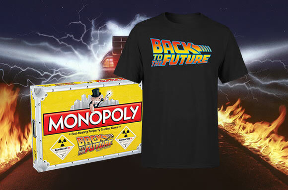 BACK TO THE FUTURE <BR>T-SHIRT & BOARD GAME