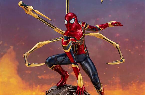 NEW IN IRON SPIDER STATUE