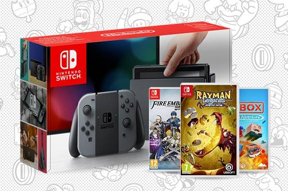 Nintendo Switch with Fire Emblem Warriors, Unbox Newbies & Rayman Legends