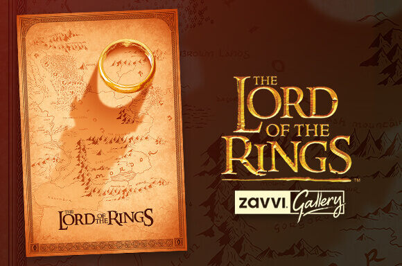THE LORD OF THE RINGS GOLD FOIL SCREENPRINT