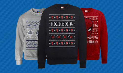 CHRISTMAS SWEATSHIRTS - FROM ONLY £14.99