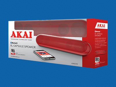 AKAI XL CAPSULE BLUETOOTH SPEAKERS