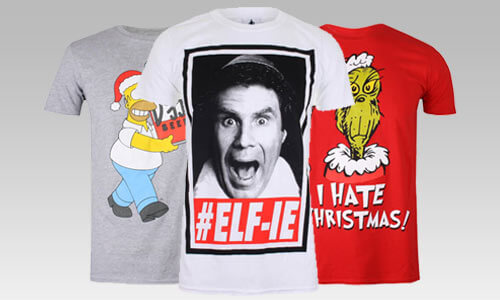 2 FOR £18 <BR>CHRISTMAS T-SHIRTS