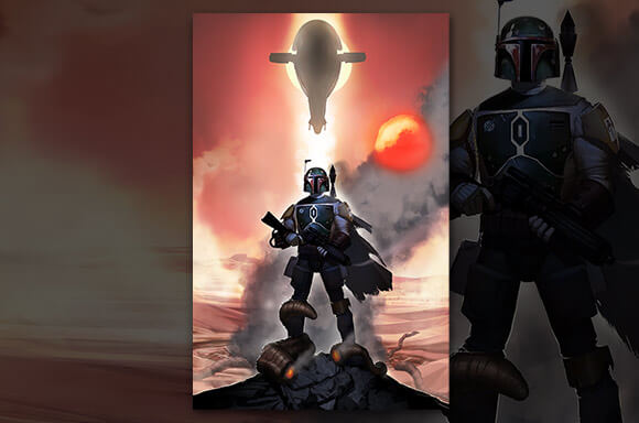 STAR WARS: MANDALORIAN METTLE LITHOGRAPH