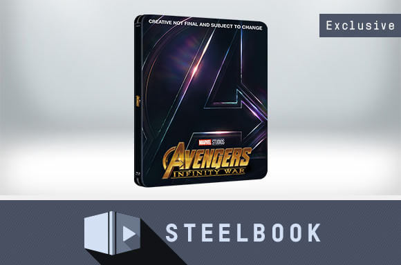 AVENGERS: INFINITY WAR 3D LIMITED EDITION STEELBOOK (INLUDES 2D VERSION)