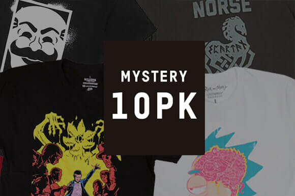 10 MYSTERY GEEK T-SHIRTS<br>FOR JUST £29.99