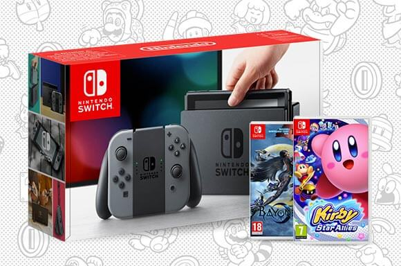 Nintendo Switch with Bayonetta 2 & Kirby Star Allies