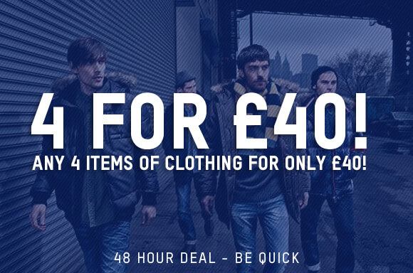 4 FOR £40 CLOTHING
