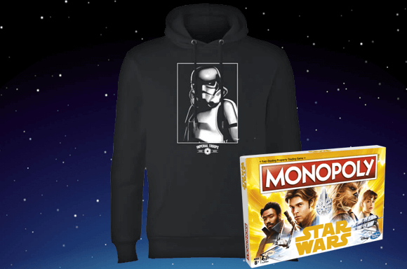 FREE MONOPOLY WITH STAR WARS HOODIE