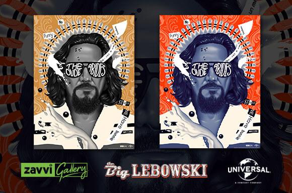 THE BIG LEBOWSKI ZAVVI EXCLUSIVE SCREENPRINTS