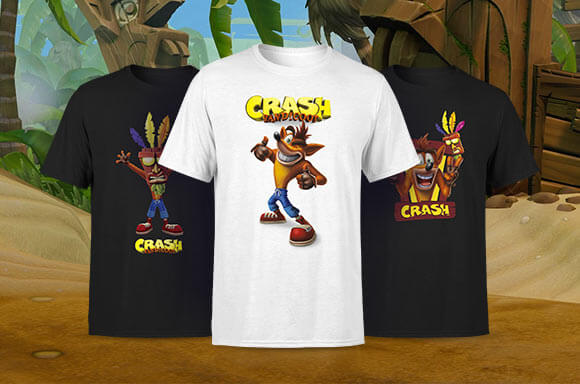 CRASH BANDICOOT LICENSED APPAREL