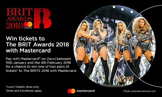 WIN TICKETS TO THE BRIT AWARDS 2018 WITH MASTERCARD®