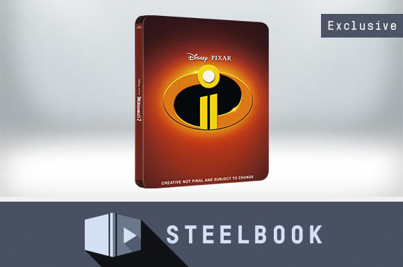 INCREDIBLES 2 3D LIMITED EDITION STEELBOOK (INCLUDES 2D VERSION)