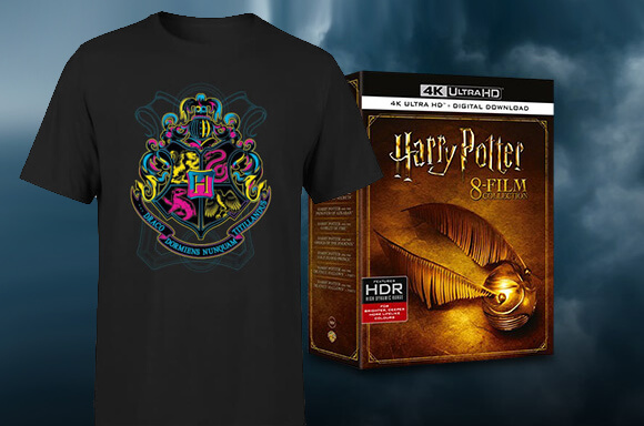 HARRY POTTER T-SHIRT & 8 FILM 4K BOX SET