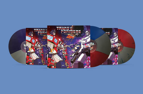 TRANSFORMERS VINYL</BR>3 COLOUR VARIANTS