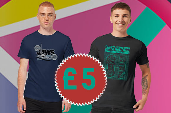 SELECTED T-SHIRTS ONLY £5