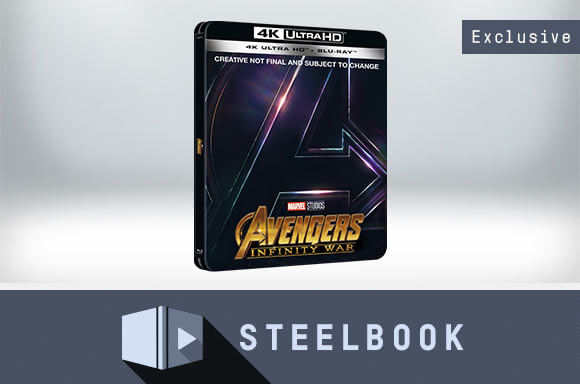 AVENGERS: INFINITY WAR 4K UHD LIMITED EDITION STEELBOOK (INCLUDES 2D VERSION)