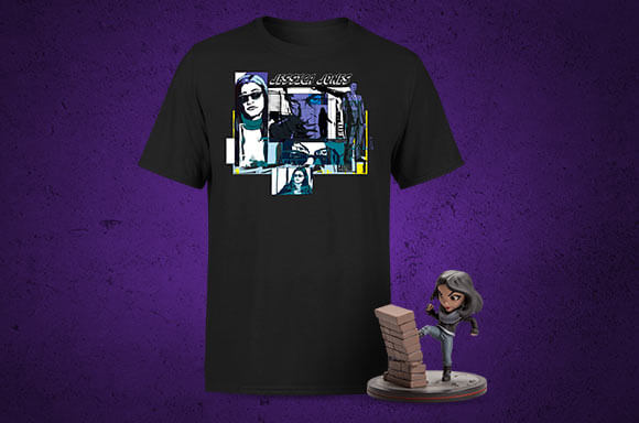FREE JESSICA JONES Q-FIG WITH T-SHIRT