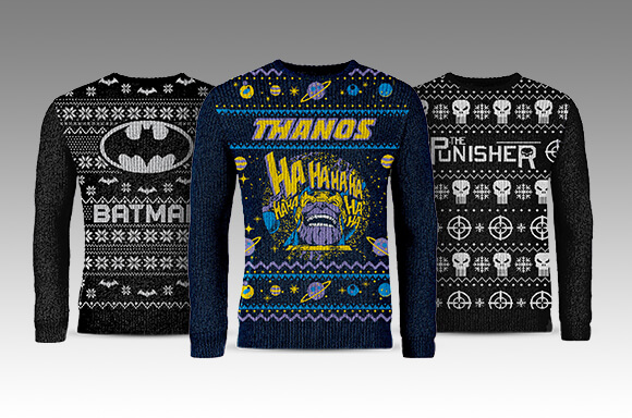MARVEL & DC KNITTED CHRISTMAS JUMPERS