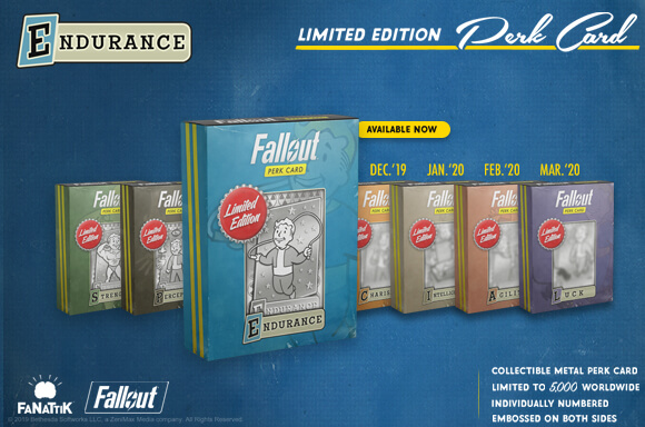 Fallout limited edition perk card replica