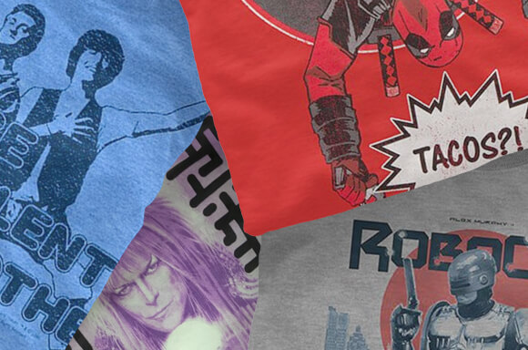 5 GEEK T-SHIRTS WITH GRAPHIC NOVEL ONLY £14.99