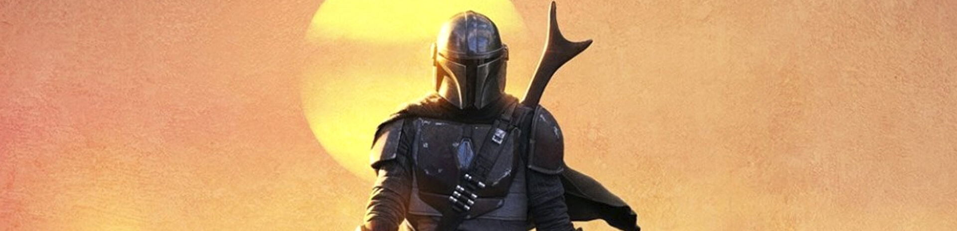 Mandalorian walking in sunset