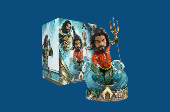 FIGURA AQUAMAN BOBBLE HEAD FOCO ED. LIMITADA