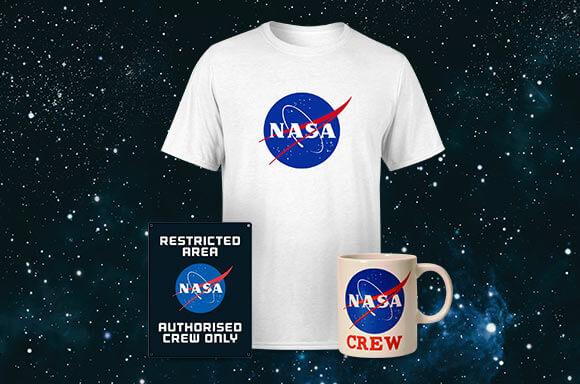 PACK NASA <br>CAMISETA, TAZA & PLACA