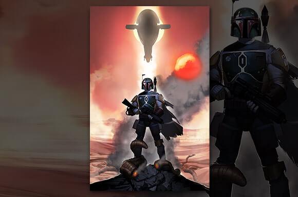 Litografía Star Wars: El retorno del Jedi