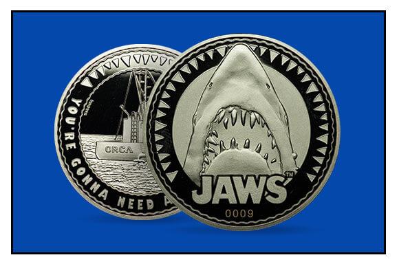 MONEDA DE COLECCIÓN JAWS (TIBURÓN)