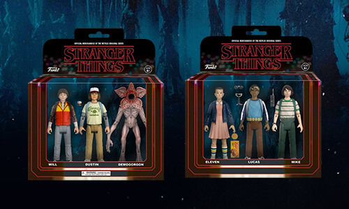 PACK DE 3 FIGURAS STRANGER THINGS