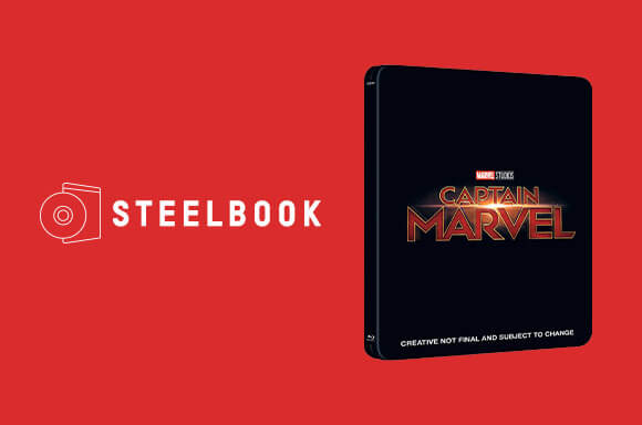 STEELBOOKS 4K & 3D<br>CAPITANA MARVEL