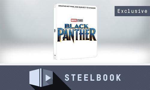 STEELBOOK BLACK PANTHER 3D + 2D