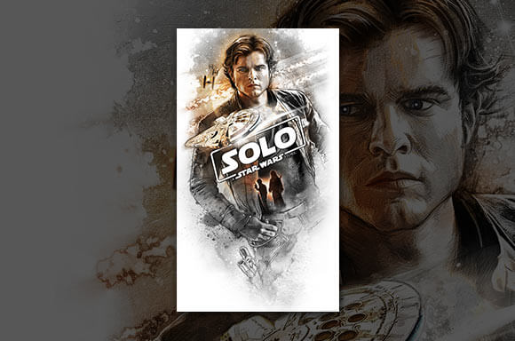 LITHOGRAPHIE STAR WARS SOLO :
