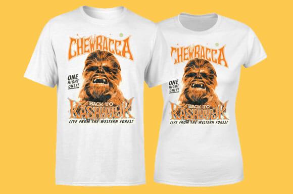 T-SHIRT CHEWBACCA<BR>10,99 € + LIVRAISON GRATUITE