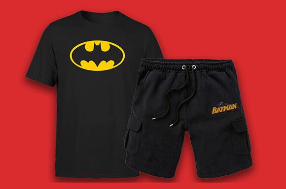 SHORT & T-SHIRT DC COMICS : 21,99€ SEULEMENT !