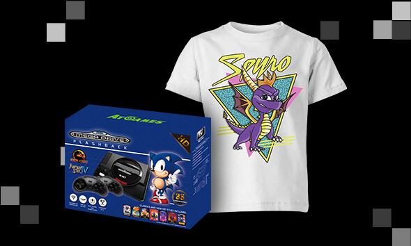 Console Rétro  +  T-shirt Enfant Gratuit