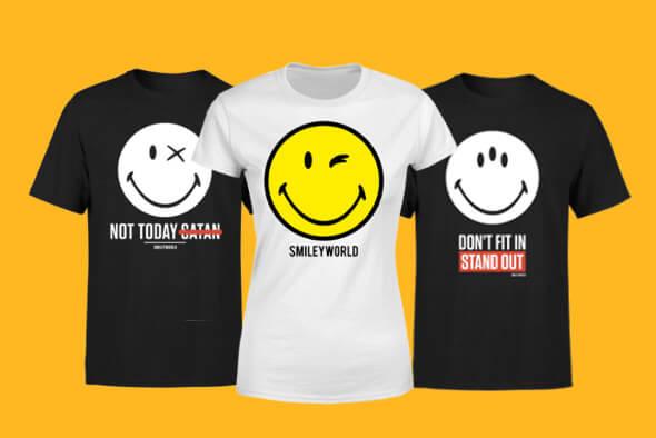 VÊTEMENTS SMILEY WORLD<BR>T-SHIRTS ET SWEATS