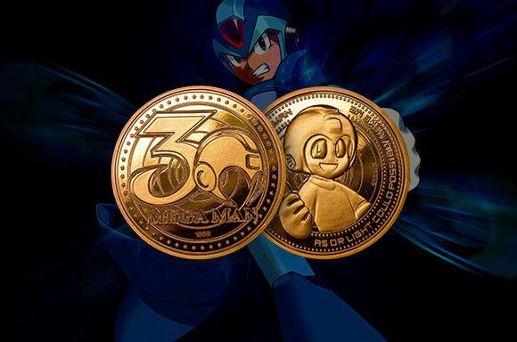 MEGA MAN COLLECTORS COIN: GOLD EDITIE
