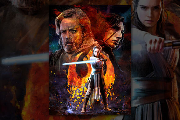 Star Wars: The Last Jedi 'Disturbance' Lithografie print