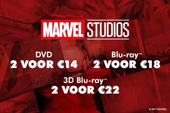 Marvel aanbieding - DVD: 2 voor €14 / Blu-ray: 2 voor €18 / 3D Blu-ray: 2 voor €22