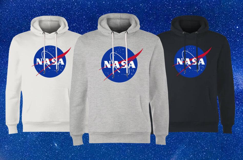30% KORTING OP NASA HOODIES + GRATIS VERZENDING!