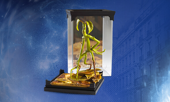 Fantastic Beasts bowtruckle sculpture